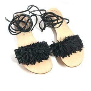 MARIELLA Black Leather ITALY Made Sandals sz 6.5/7